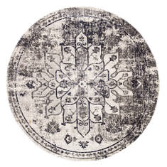 "Jaipur Living Polaris Grey Round 5'11"" X 5'11"" Area Rug RUG142724 803-119735"