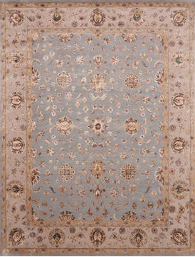 "Jaipur Blue Hand Knotted 7'11"" X 10'3""  Area Rug 905-119759"