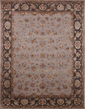 "Jaipur Grey Hand Knotted 8'1"" X 10'1""  Area Rug 905-119760"