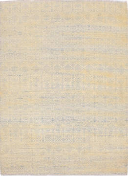 "Modern Multicolor Hand Knotted 4'1"" X 5'11""  Area Rug 904-119785"