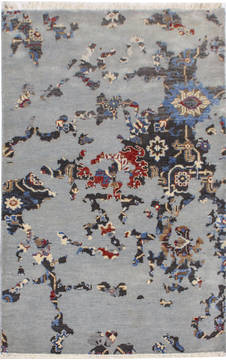 "Modern Multicolor Hand Knotted 3'0"" X 5'0""  Area Rug 904-119809"