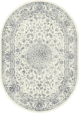 "Dynamic ANCIENT GARDEN Beige Oval 5'3"" X 7'7"" Area Rug ANOV69571096666 801-119877"