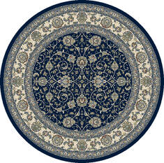 "Dynamic ANCIENT GARDEN Blue Round 7'10"" X 7'10"" Area Rug ANR8571203464 801-119893"