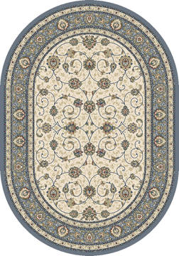 "Dynamic ANCIENT GARDEN Beige Oval 5'3"" X 7'7"" Area Rug ANOV69571206454 801-119903"