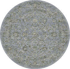 "Dynamic ANCIENT GARDEN Blue Round 5'3"" X 5'3"" Area Rug ANR5571364646 801-119953"