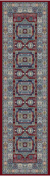 "Dynamic ANCIENT GARDEN Red Runner 2'2"" X 11'0"" Area Rug AN212571471454 801-119974"