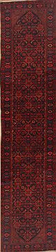 "Mussel Red Runner Hand Knotted 3'5"" X 15'9""  Area Rug 100-12001"