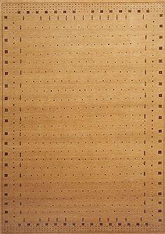 """Indian Gabbeh  Wool Yellow Area Rug  (8' 0"""" x 11'5"""") - 109 - 12007"""