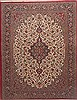 Qum Red Hand Knotted 100 X 130  Area Rug 100-12016 Thumb 0