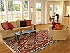 Kilim Red Hand Knotted 65 X 90  Area Rug 100-12019 Thumb 4