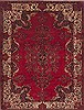 Mashad Red Hand Knotted 72 X 96  Area Rug 100-12042 Thumb 0