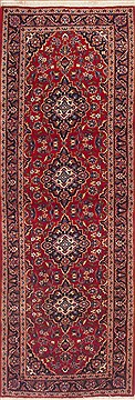 "Ardakan Red Runner Hand Knotted 3'5"" X 10'0""  Area Rug 100-12057"