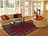 Mahal Red Hand Knotted 68 X 105  Area Rug 100-12064 Thumb 4