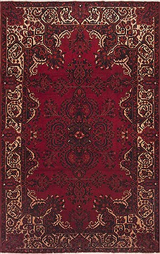 Persian Mahal Red Rectangle 7x10 ft Wool Carpet 12064