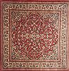 Moshk Abad Red Square Hand Knotted 107 X 107  Area Rug 100-12078 Thumb 0