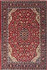 Mahal Red Hand Knotted 71 X 107  Area Rug 100-12085 Thumb 0