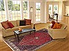 Abadeh Red Hand Knotted 68 X 100  Area Rug 100-12088 Thumb 4