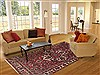 Hamedan Red Hand Knotted 69 X 102  Area Rug 100-12096 Thumb 4
