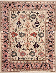 "Heriz White Hand Knotted 6'9"" X 8'9""  Area Rug 100-12099"
