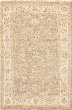 Pakistani Chobi Beige Rectangle 3x5 ft Wool Carpet 12113