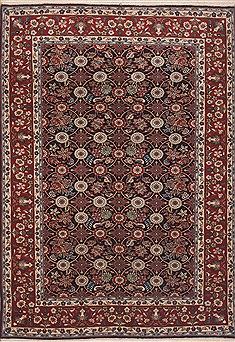 Persian Mahal Red Rectangle 7x10 ft Wool Carpet 12123