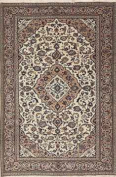 Persian Ardakan Beige Rectangle 7x10 ft Wool Carpet 12124