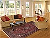 Kashan Red Hand Knotted 67 X 96  Area Rug 100-12126 Thumb 4