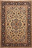 Yazd Beige Hand Knotted 65 X 97  Area Rug 100-12128 Thumb 0