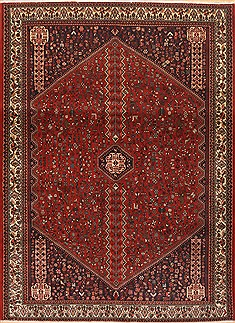 Persian Abadeh Red Rectangle 7x10 ft Wool Carpet 12135
