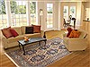 Sarouk Blue Hand Knotted 67 X 99  Area Rug 100-12138 Thumb 4