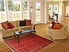 Bokhara Red Hand Knotted 54 X 83  Area Rug 100-12142 Thumb 4