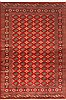 Bokhara Red Hand Knotted 68 X 102  Area Rug 100-12143 Thumb 0