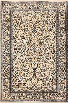 "Ardakan White Hand Knotted 6'5"" X 9'7""  Area Rug 100-12147"
