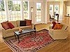 Moshk Abad Red Hand Knotted 69 X 101  Area Rug 100-12148 Thumb 4
