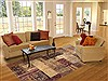 Patchwork Beige Hand Knotted 83 X 910  Area Rug 100-12181 Thumb 4
