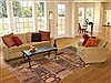 Patchwork Brown Hand Knotted 82 X 99  Area Rug 100-12186 Thumb 4