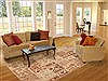 Patchwork Beige Hand Knotted 80 X 99  Area Rug 100-12189 Thumb 4
