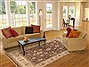 Ziegler Brown Hand Knotted 80 X 101  Area Rug 100-12193 Thumb 4