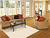Modern Beige Hand Knotted 48 X 66  Area Rug 100-12271 Thumb 5