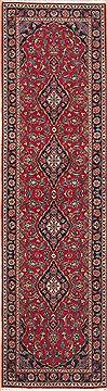 "Persian Kashan  Wool Red Runner Area Rug  (2'7"" x 9'7"") - 121 - 12285"