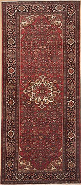 "Hamedan Red Runner Hand Knotted 5'0"" X 11'6""  Area Rug 100-12286"