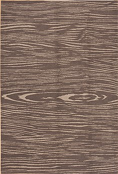 Nepali Modern Brown Rectangle 6x9 ft Wool Carpet 12292