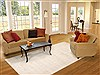 Indo-Nepal Beige Hand Knotted 80 X 100  Area Rug 100-12298 Thumb 4