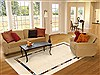 Modern Beige Hand Knotted 68 X 99  Area Rug 100-12317 Thumb 4