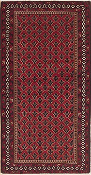 Persian Baluch Red Rectangle 3x5 ft Wool Carpet 12328