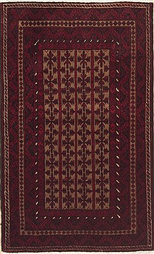 Persian Baluch Brown Rectangle 3x5 ft Wool Carpet 12329