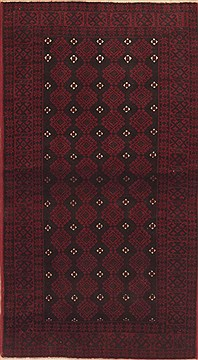 Persian Baluch Black Rectangle 3x5 ft Wool Carpet 12333