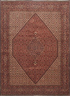 "Bidjar Red Hand Knotted 8'1"" X 11'3""  Area Rug 100-12349"