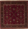 Jaipur Red Square Hand Knotted 50 X 50  Area Rug 251-12388 Thumb 0
