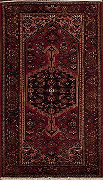 Persian Hamedan Red Rectangle 5x7 ft Wool Carpet 12394
